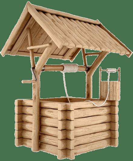 Процесс очищения колодца в Московской области